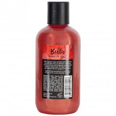 Via Mercato Bella Shimmer Moisturizer Sour Cherries, Pomegranate Body Lotion Back Label