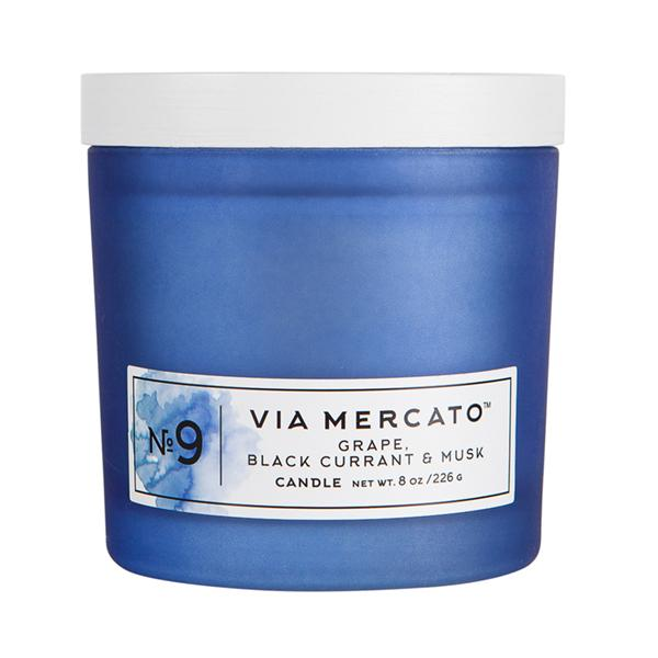 Via Mercato Soy Candle No.9 Grape, Black Currant, Musk - 8 Ounce