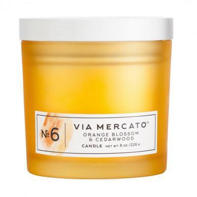 Via Mercato Soy Candle No.6 Fig, Orange Blossom, Cedarwood - 8 Ounce