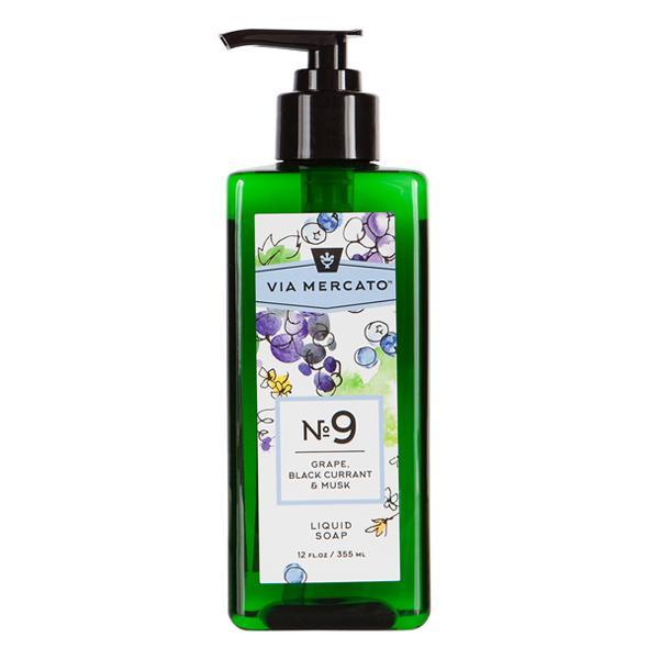 Via Mercato Liquid Soap No.9 Grape, Black Currant, Musk - 12 Ounce