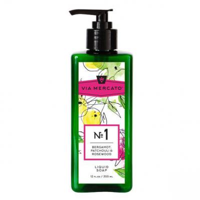 Via Mercato Liquid Soap No.1 Bergamot, Patchouli and Rosewood - 12 Ounce