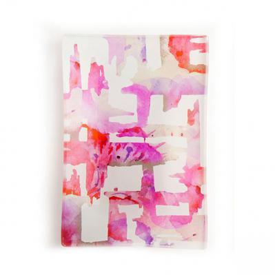 Via Mercato Decorative Glass Soap Tray Dish Pink