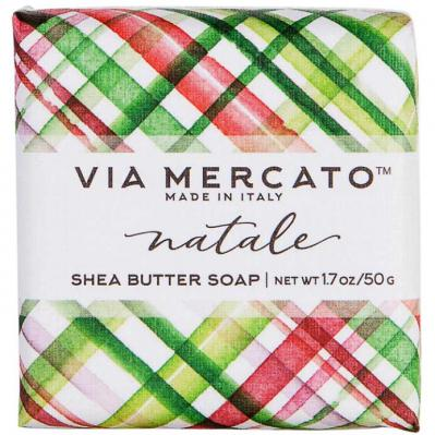 Via Mercato Natale Winter Holiday Gift Set Box Mistletoe Soap 50 gram