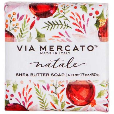 Via Mercato Natale Winter Holiday Gift Set Box Snow Flower Soap 50 gram