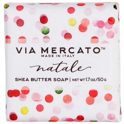 Via Mercato Natale Winter Holiday Gift Set Box Sugar Plum Soap 50 gram