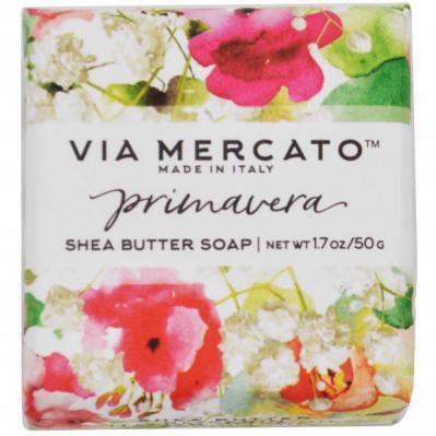 Via Mercato Soap Primavera Spring Flowers Gift Set Box Blossoming Tuberose
