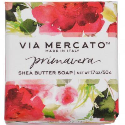 Via Mercato Soap Primavera Spring Flowers Gift Set Box Bar