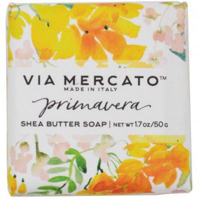 Via Mercato Soap Primavera Spring Flowers Gift Set Box Summer Soleil