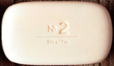 Via Mercato Soap No.2 Green Tea, White Musk 200 gram Bath Bar Unwrapped