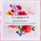 Via Mercato Soap Primavera Spring Flowers Gift Set Box of 4 x 50 grams