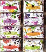 Via Mercato Soap Variety Pack No.1 thru No. 8, 200 grams each bar