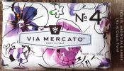 Via Mercato Soap No.4 Violets Magnolia Amber 200 gram Bath Bar