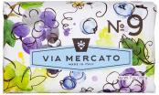 Via Mercato Soap No.9 Grape, Black Currant and Musk 200 gram Bath Bar